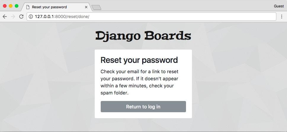 Password Reset Done